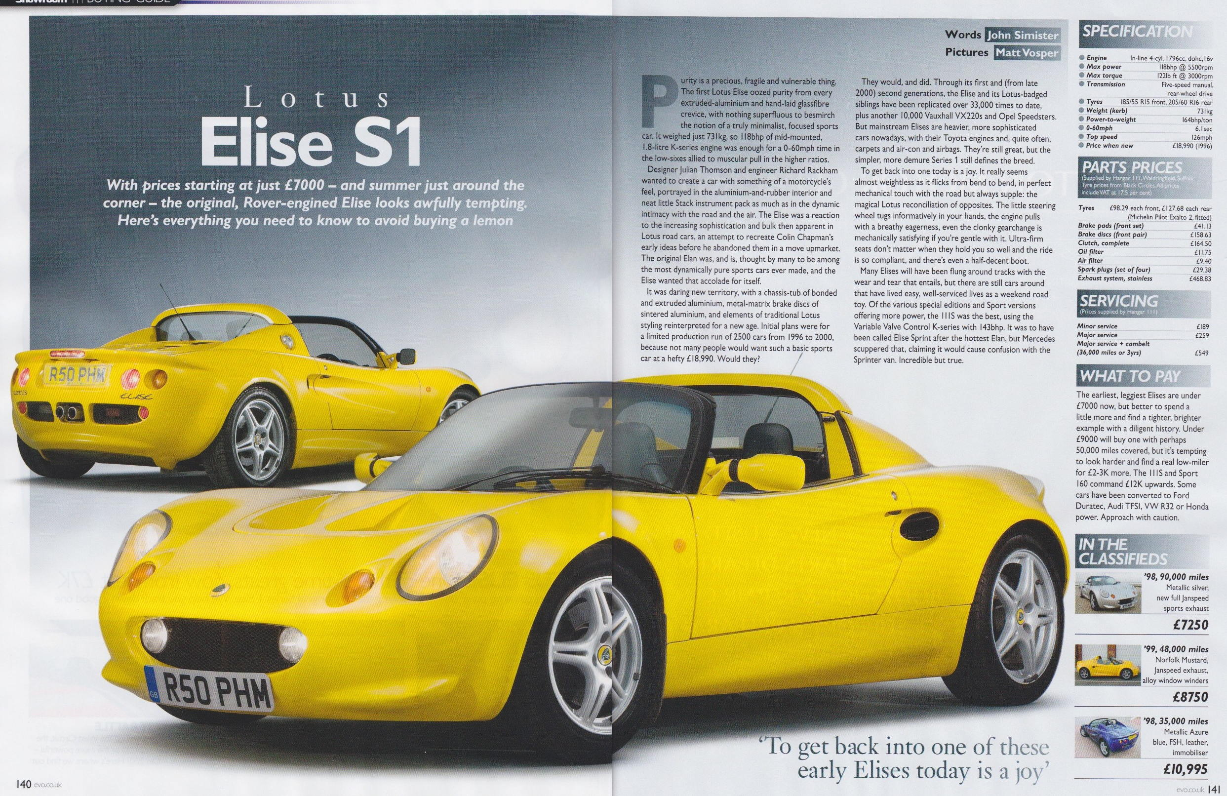 Cult111 site guides dachat mk1 ph buying guide lotus elise s1 vanachro Gallery